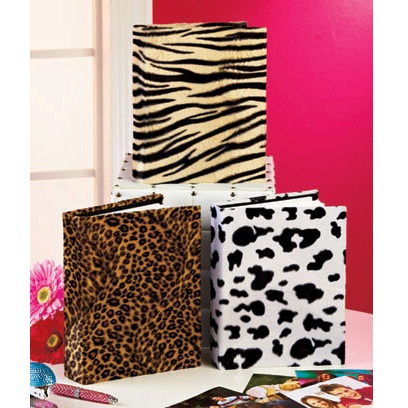 Plush Cow Animal Print Photo Album